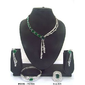 Girls American Diamond Jewellery Set