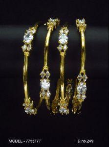 Gold Plated Diamond Bangles