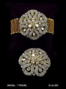 Golden American Diamond Bracelet