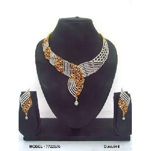 Party Wear American Diamond Necklace Set