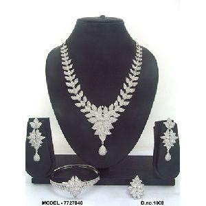 Simple American Diamond Jewellery Set