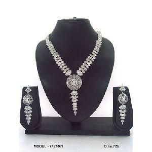 Stone Artificial Diamond Necklace Set