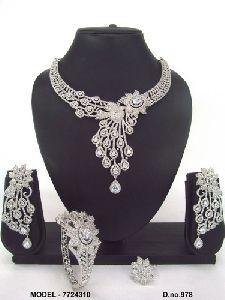 Wedding American Diamond Jewellery Set
