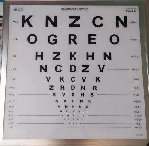Logarithmic Acuity LED Chart