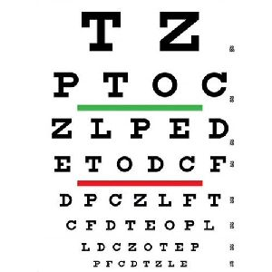 Optometric Eye Chart