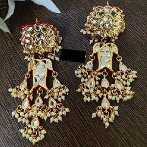 Kundan Meena Earrings