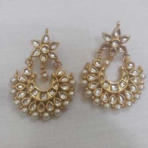 Party Wear Kundan Earrings