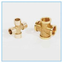 Brass 4 Way Connector
