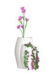 FRP Beautiful Double Curved Floor Vase