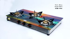 3 Burner Digital Gas Glass Top