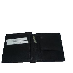 Mens Zipper Leather Wallet