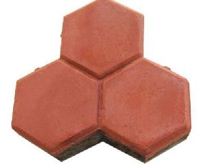 Trihex Shaped Interlocking Tiles