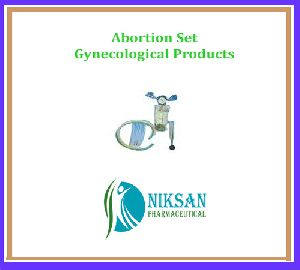 ABORTION SET, GYNECOLOGICAL PRODUCTS