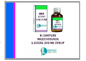 B COMPLEX MULTIVITAMIN WITH L LYSINE SYRUP