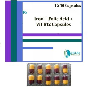 IRON FOLIC ACID VITAMIN B12 CAPSULES