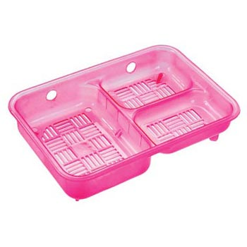3 in 1 Pink Plastic Soap Case