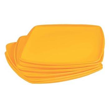 Full Plate (Square) 6 Pcs