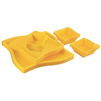 Microwavable Plastic Plate With Bowls