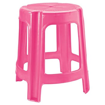 Tip Top Plastic Pink Fancy Stool
