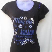 Black Printed Cotton Top