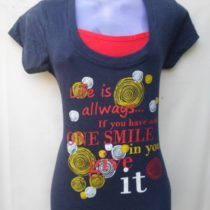 Black & Red Printed Cotton Top