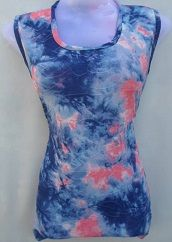 Blue & Orange Printed Top