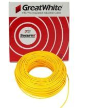 Great White 0.75 SQ MM Yellow Triple Layer PVC Insulated Wire