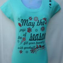Light Green Printed Cotton Top