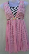 Pink Party Wear Stylish Top With Belt