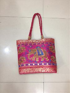 Designer Embroidered Handbag