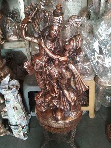 Radha Krishna Copper Statue