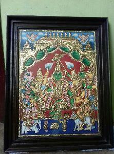 Vishnu Tanjore Painting