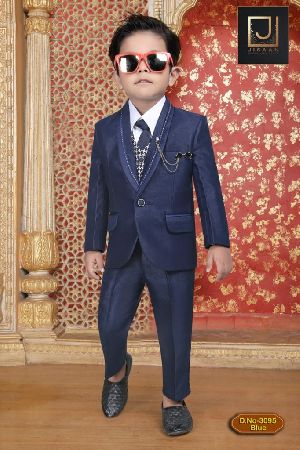DN- 3095 Blue- Boys Coat Pant