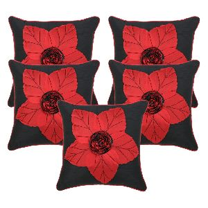 Silk Flower Digital Print Cushion Cover
