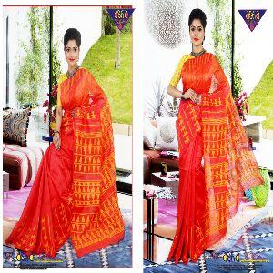 Silk Linen Jamdani Sarees 02