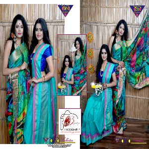 Slk Linen Jamdani Sarees 03