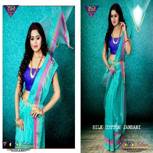 Silk Cotton Jamdani Sarees