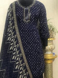 Ladies Black Salwar Suit (D. No. 2416)