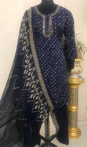 Ladies Blue Salwar Suit (D. No. 2416)