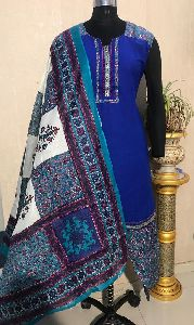 Ladies Blue Salwar Suit (D. No. 2418)