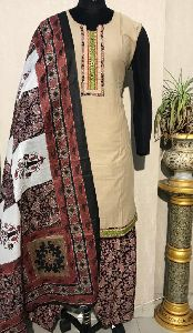 Ladies Brown Salwar Suit (D. No. 2418)