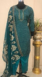 Ladies Green Salwar Suit (D. No. 2416)