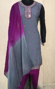 Ladies Grey Salwar Suit (D. No. 2417)