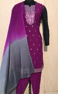 Ladies Purple Salwar Suit (D. No. 2417)