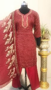 Ladies Red Salwar Suit (D. No. 2416)