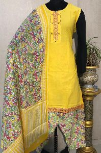Ladies Yellow Salwar Suit (D. No. 2418)
