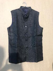 Mens Plain Black Waistcoat