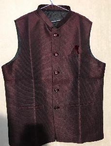 Mens Plain Brown Waistcoat