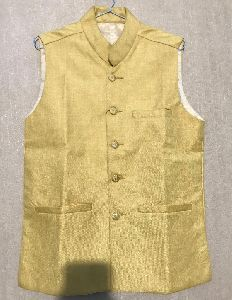 Mens Plain Yellow Waistcoat