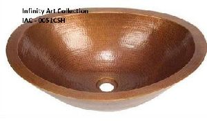 IAC–0051CSH Single Wall Hammered Copper sink
